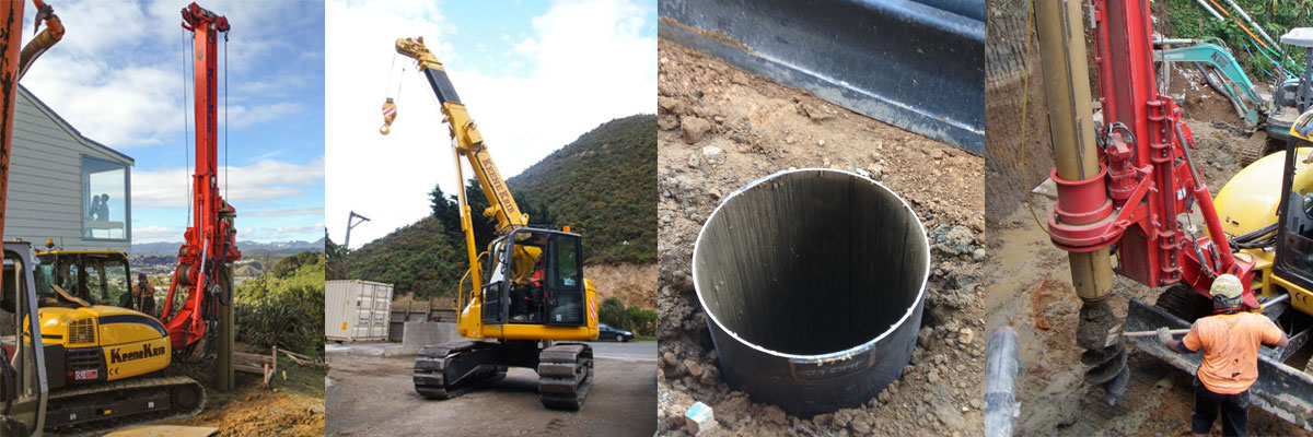 Large diameter holes up to 22m into the ground